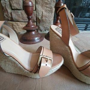 Pour La Victoire wedge ankle strap sandals